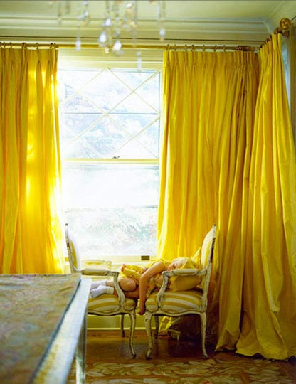 cortinas amarillas ideas