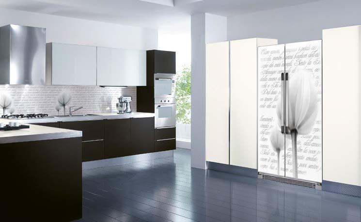 Decoraci n de cocinas heladeras con apliques for Vinilos decorativos en monterrey