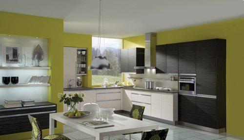 Cocinas pintadas con colores fuertes de h cker - Cocinas pintadas fotos ...