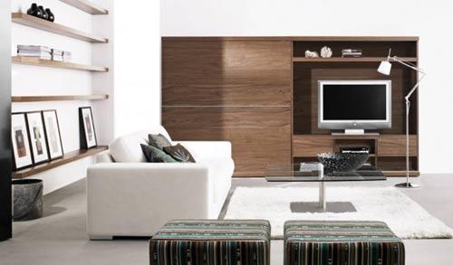 Decoraci n de salas modernas por boconcept for Adornos modernos para living