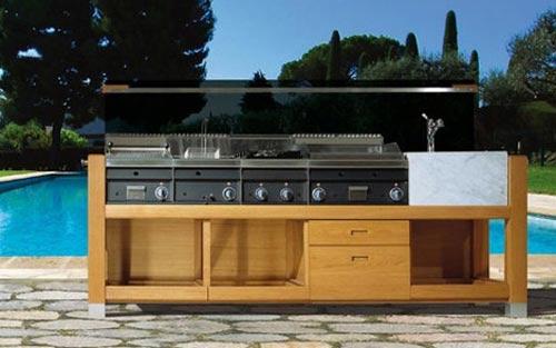 Cocinas para exterior de j corradi for Muebles de cocina para exterior