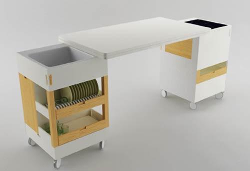Cocina rubika ideal para espacios peque os for Muebles para espacios reducidos living