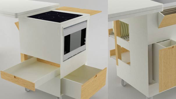 muebles de cocina modernos espacios pequeos