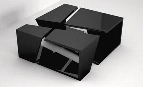 Mesas modernas para peque os espacios for Mesas para espacios pequenos
