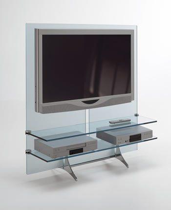 Mesas para tv de vidrio for Muebles de cristal para tv