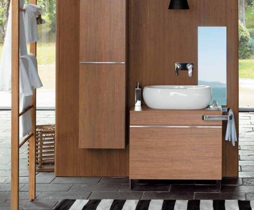 Muebles de madera para el ba o for Muebles de madera para banos modernos