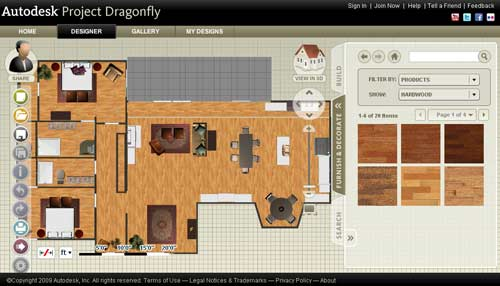 Planificador online autodesk project dragonfly for Online room planner
