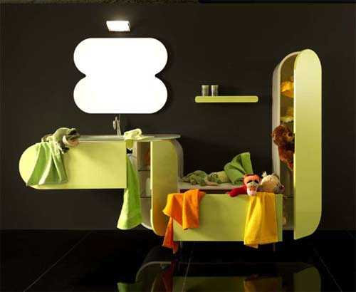 Coloridos muebles para el ba o de lasa idea - Muebles de bano originales ...