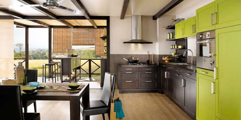 Inspiraci n cocinas verdes perfecto ambiente for Cuisine 3d murs erigne