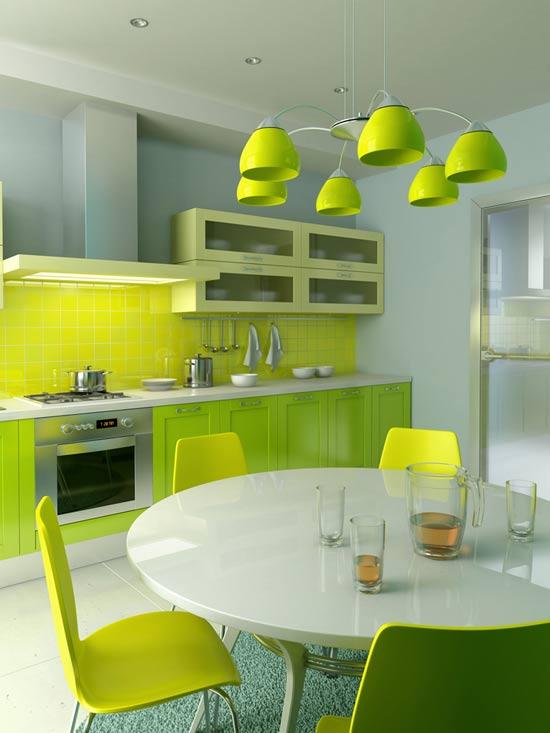 Inspiración: Cocinas verdes •