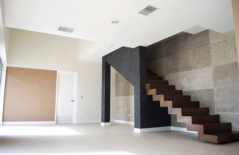 Medio Baño Minimalista:Minimalist Modern Staircase Stairs Design