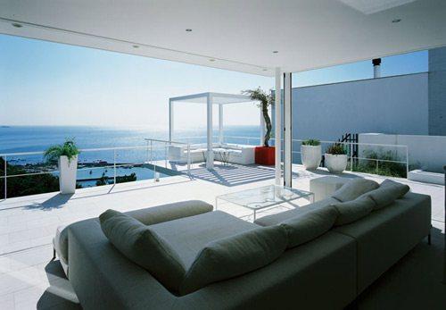 Beautiful Home Design With Modern Vintage Interior Ocean View La Verdad Es Que Yo Por Lo Menos Podr A Pasar Horas Sentada En Ese