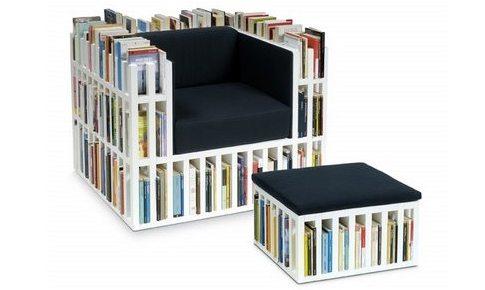 Sill n biblioteca para los amantes de la lectura - Sillon para leer ...