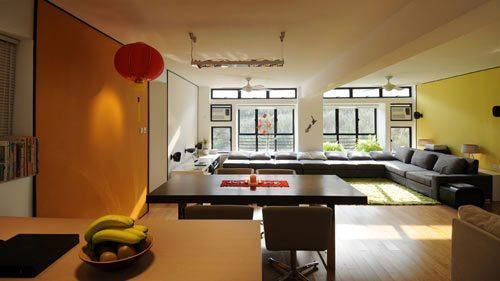Departamento decorado con estilo moderno y toques orientales for Departamentos decorados estilo moderno