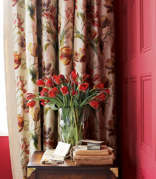 cortinas estampadas de laura ashley