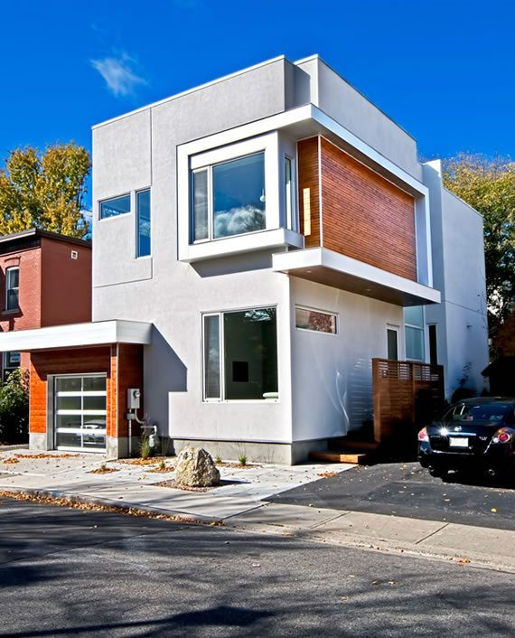 Casa cúbica con espacio reducido