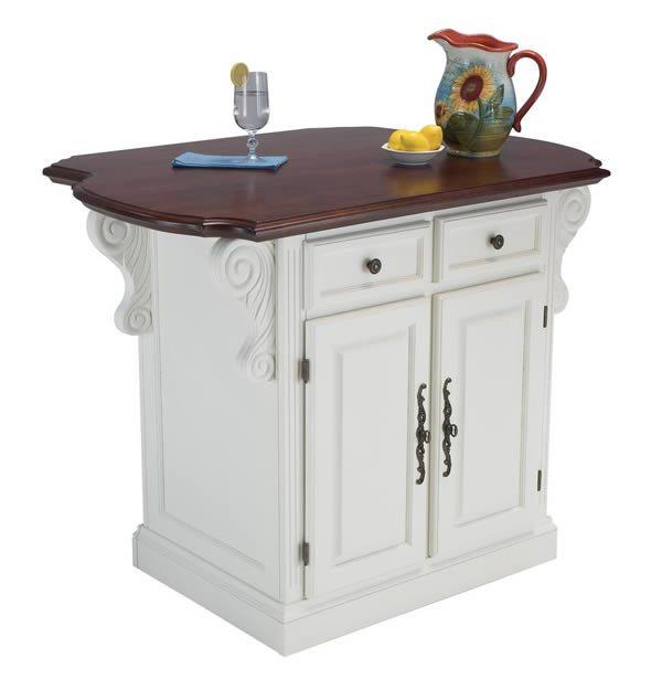 Muebles de cocina: islas móviles estilo tradicional •