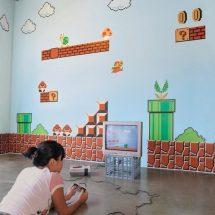 Pegatinas al estilo video juego de Mario Bros.
