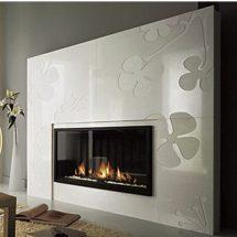 Fotografía de chimenea con diseño exterior original