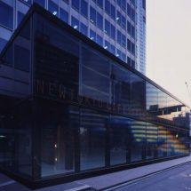 Espacio arquitectónico elaborado en cristal.