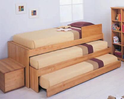 Camas nido triples for Cama nido de tres camas