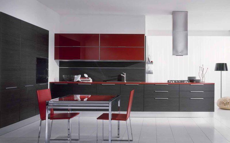 Habitaciones modernas cocinas - Cocinas rojas modernas ...