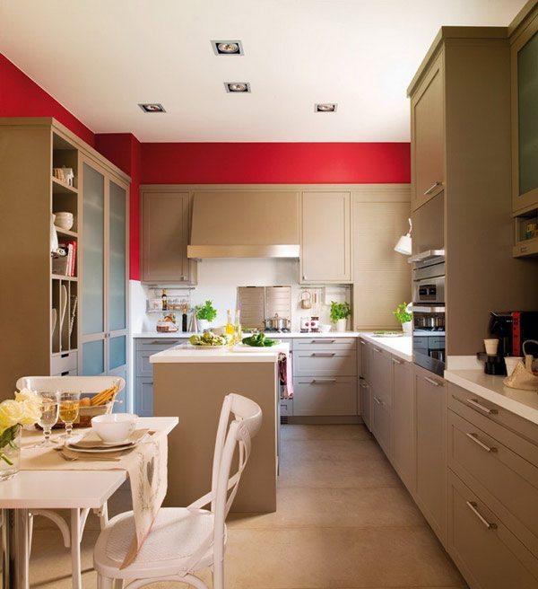 Decoración de cocinas en rojo •