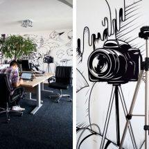 Decoración de oficinas Ilustraciones en Appricot