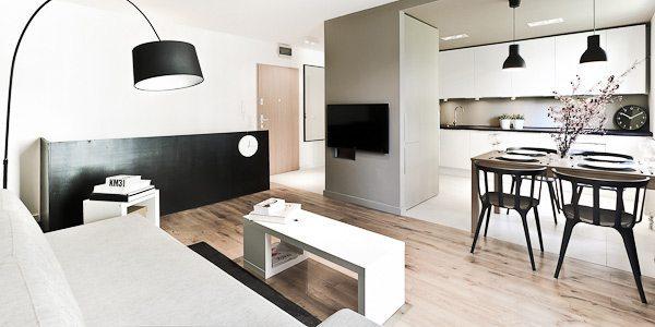 Departamento moderno en polonia 3xa for Departamentos decorados estilo moderno