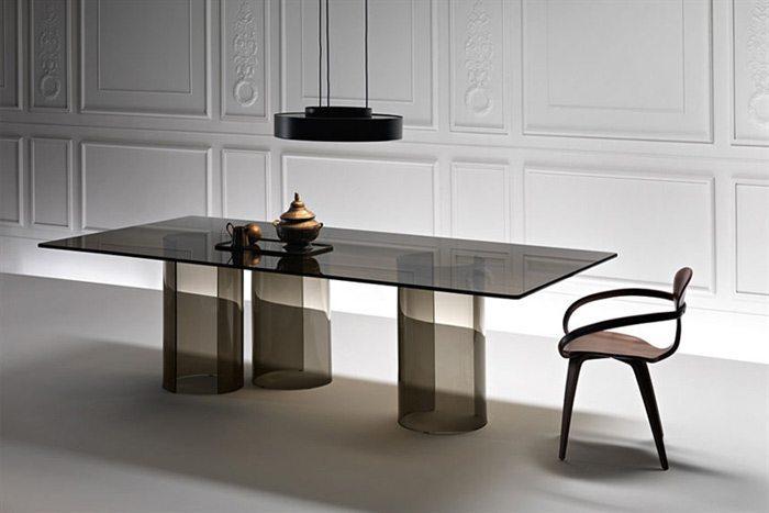 Mesas de vidrio para comedor fiam - Mesas de comedor para espacios pequenos ...
