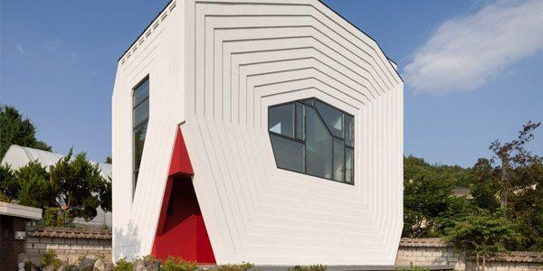 Arquitectura moderna casa de formas geom tricas en corea for Casa moderna corea