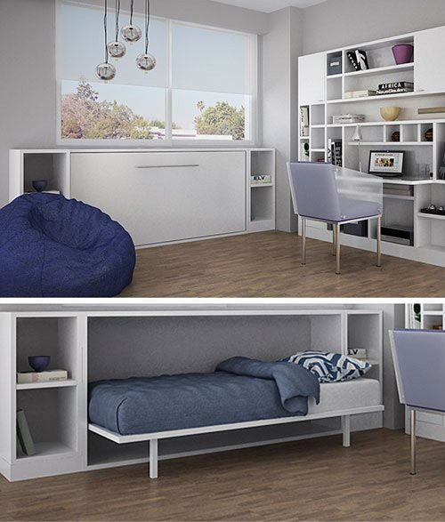 Camas plegables para ahorrar espacio for Futon cama de una plaza