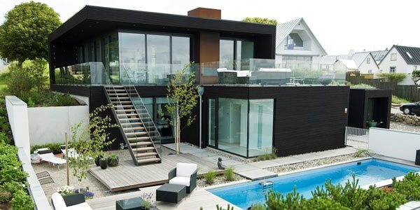 Casas modernas villa en suecia for Casas modernas por dentro