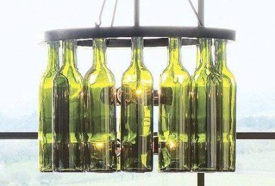 Decoración con botellas