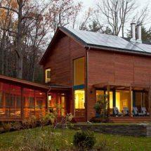 Cabaña de madera en Woodstock
