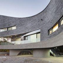 Casa con curvas en Corea del Sur