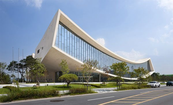 Arquitectura moderna biblioteca nacional de sejong - Cubismo arquitectura ...