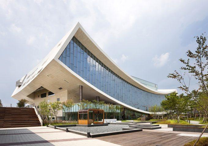 Arquitectura moderna biblioteca nacional de sejong for Arquitectura moderna