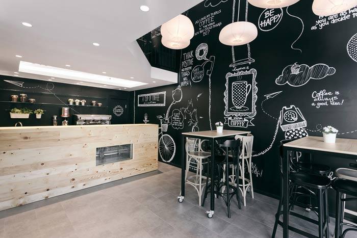 Decoración de bares: Stock Coffee •