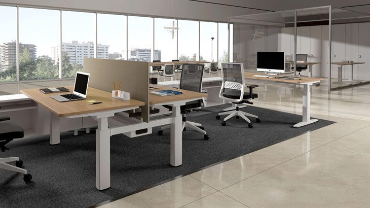 Mesas de oficina modelos de actiu for Mobiliario de oficina moderno