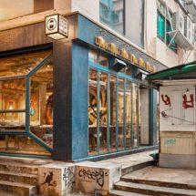 Restaurante street art en Hong Kong