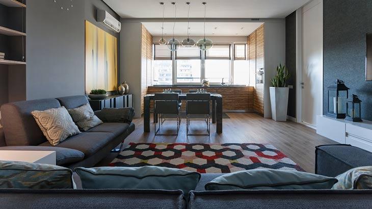 Departamento moderno en color gris