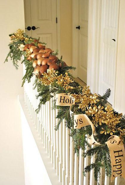 Decoraci n navide a para escaleras - Imagenes de decoracion navidena ...