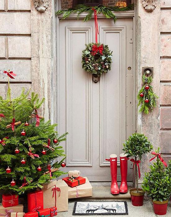decoraci n navide a para puertas